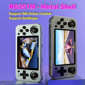 ANBERNIC RG351M Retro Video Game Console Aluminum Alloy Shell RG351P 2500 Game Portable Console RG351 Handheld Game Player