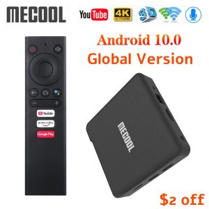 2020 Mecool KM1 Deluxe ATV Google Certified Android 10 TV Box Amlogic S905X3 Androidtv Prime Video 4K Dual Wifi 2T2R Set Top Box